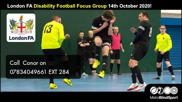 London FA Disability Football Focus Group 14th October 2020!