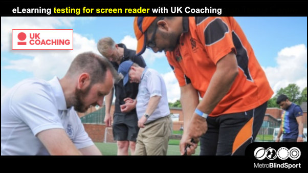 eLearning testing for screen reader with UK Coaching
