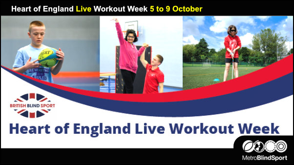 Heart of England Live Workout Week 5 to 9 October