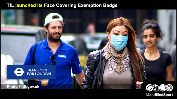 TfL launched its Face Covering Exemption Badge
