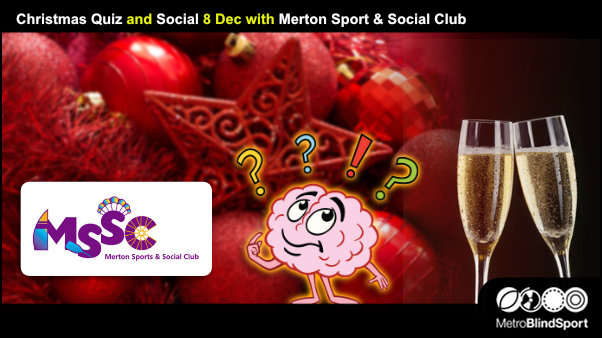 Christmas Quiz and Social 8 Dec with Merton Sport & Social Club