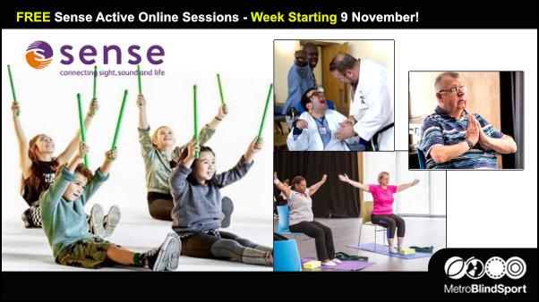 FREE Sense Active online sessions week starting 9 Nov