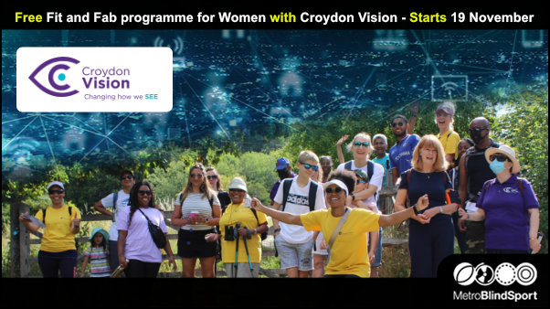 Free Fit and Fab programme for Women with Croydon Vision Starts 19 November