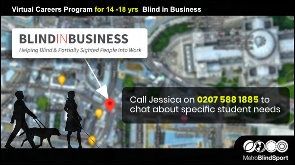 Virtual Careers Program for 14 -18 yrs Blind in Business
