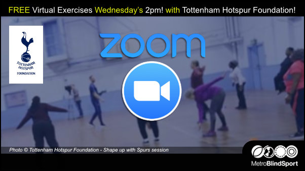 FREE Virtual Exercises Wed 2pm - Tottenham Hotspur Foundation