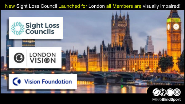 New Sight Loss Council Launched for London all Members are visually impaired!