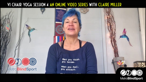Vi Chair Yoga session 4 an Online video series with Claire Miller