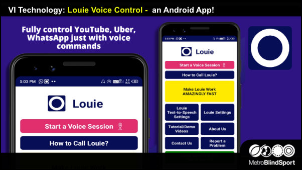 VI Tech: Louie Voice Control is an Android App