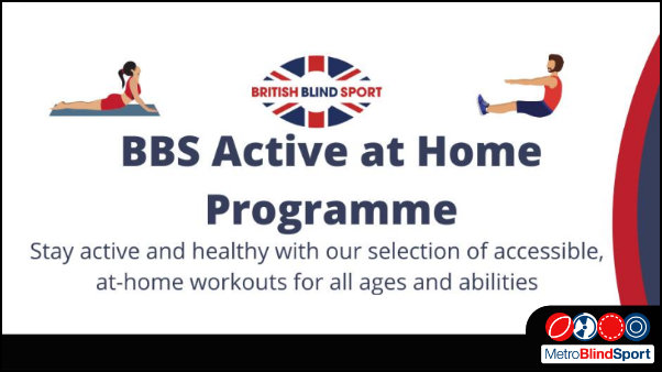 British Blind Sport Active at Home Live Workouts