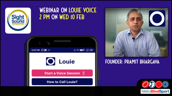 Sight and Sound webinar on Louie Voice Control App - 10 Feb