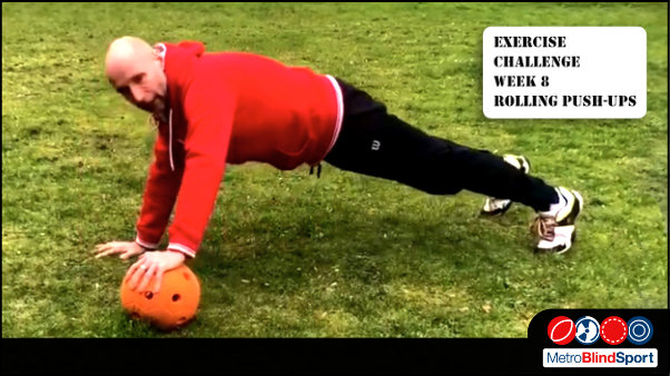 The Exercise Challenge this week is Rolling Push-ups