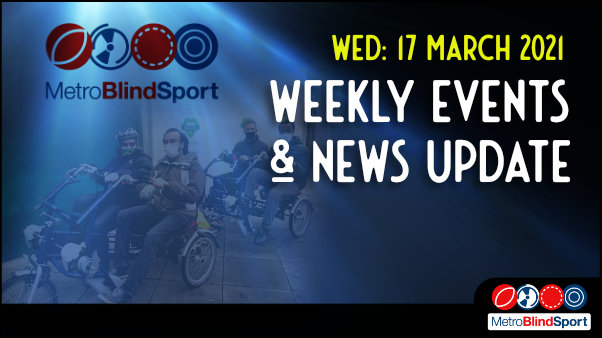 Weekly online event and news Update 17 March 2021