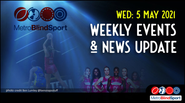 nd the text saying Wednesday 28 April Weekly Events & News Update!