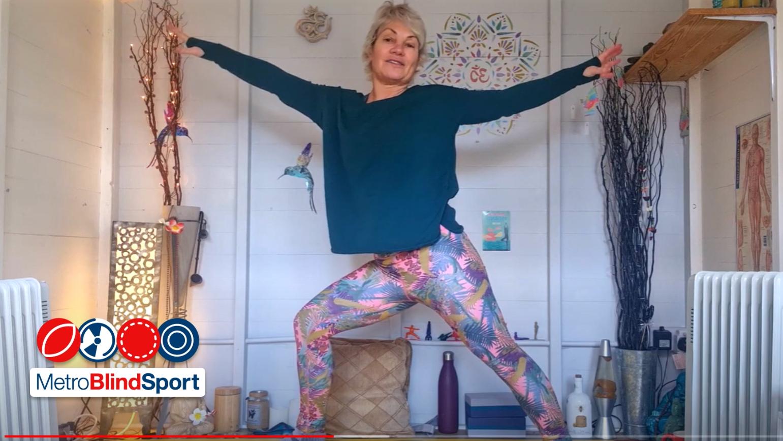 Audio Described Floor Yoga Class 4 with Claire Miller