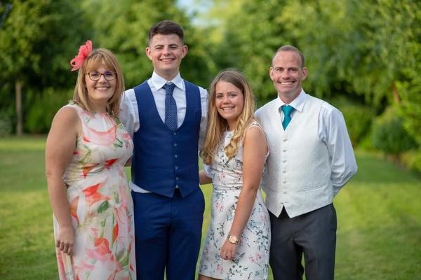 Matt and family at a wedding