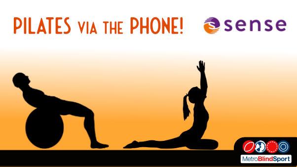 silhouettes of pilates text says Pilates via the telephone - Sense
