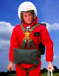 Photo of an Action Man - the parchuting red arrow version