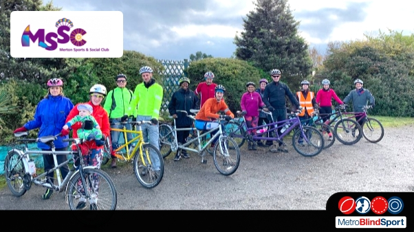 Group Photo of merton sport and social club members on a bike ride MSSC Events in September