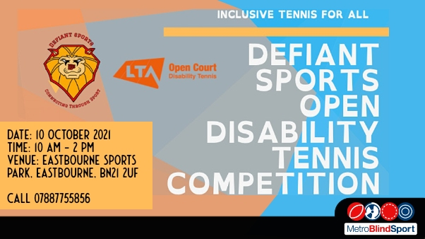 Defiant Sports Open Disability Tennis Competition 10 Oct 2021