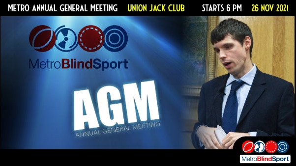 Metro Annual General Meeting is on 26 Nov 2021 at the Union Jack Club, starts at 6 pm