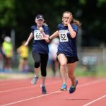 100m. Emma Quigley, left, and Rebecca Blakey