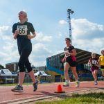 5000m. From left, Emma Quigley, Deborah Reynolds, Lynn Cox with guide runner