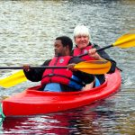 Roy Smith and a Participant kayaking